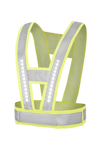 LightVest LED vest light intesities